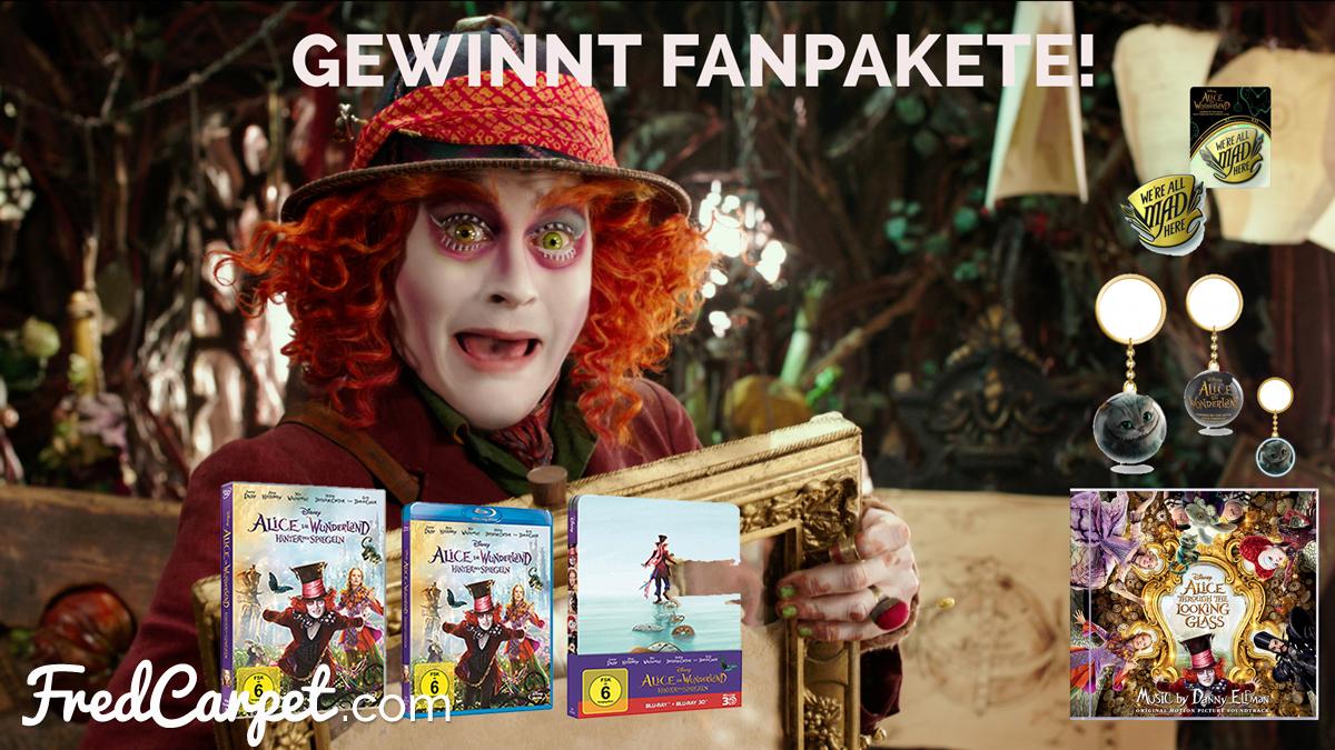 Gewinnt Fanpakete zu ALICE IM WUNDERLAND: HINTER DEN SPIEGELN